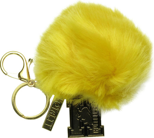 Harry Potter Hufflepuff Loyalty Furry Pom Keychain