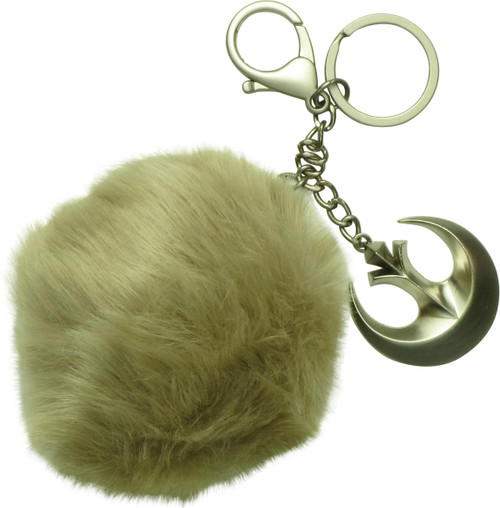 Star Wars Rogue One Jyn Rebel Furry Pom Keychain