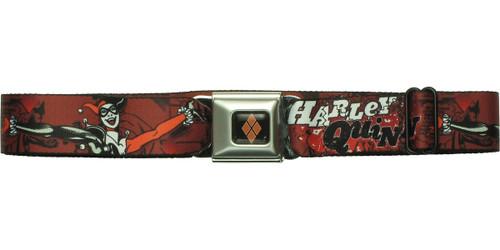 Harley Quinn Name Poses Comic Strip Seatbelt Belt