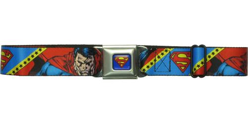 Superman Logo Poses Stars Seatbelt Belt