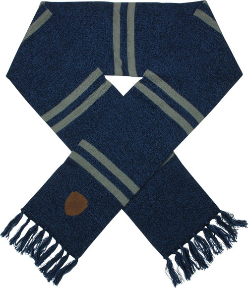 Harry Potter Ravenclaw Patch Blue Fringed Scarf