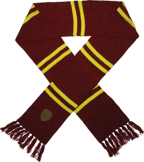Harry Potter Gryffindor Patch Red Fringed Scarf