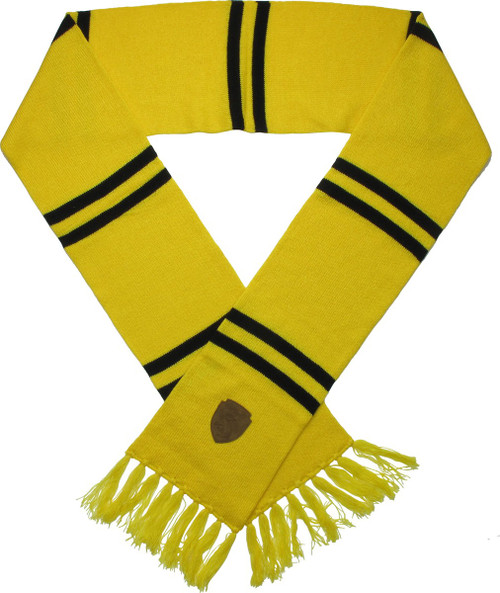 Harry Potter Hufflepuff Patch Yellow Fringed Scarf