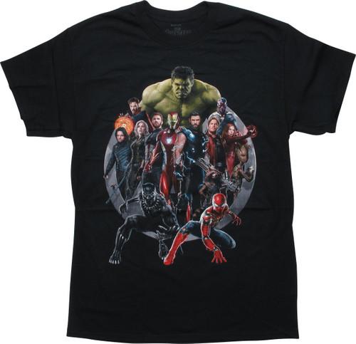 Avengers Infinity War Movie Hero Group T-Shirt