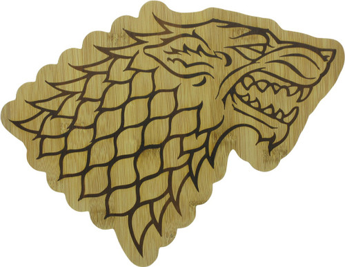 Game of Thrones Stark House Insignia Cutting Board