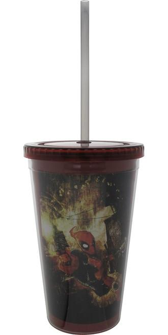 Deadpool Guns Artwork Travel Cup