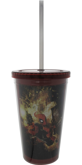 Deadpool Guns Artwork Travel Cup