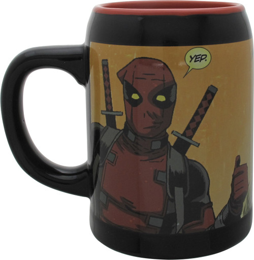 Deadpool Yep Greetings Oversized Coffee Mug