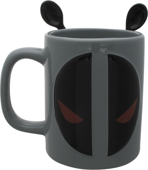 Deadpool Logo with Stir Spoons Coffee Mug