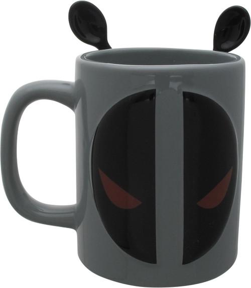 Deadpool Logo with Stir Spoons Coffee Mug