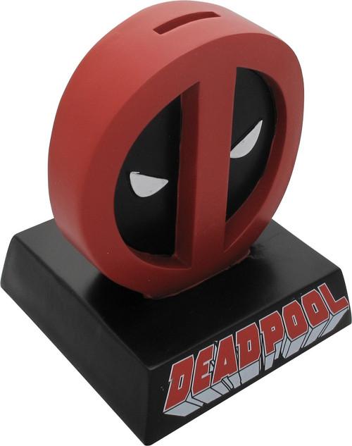 Deadpool Logo Name Molded Coin Bank