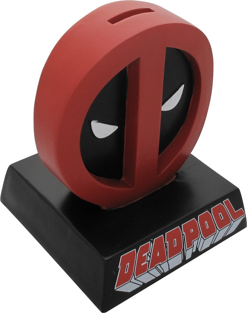 Deadpool Logo Name Molded Coin Bank