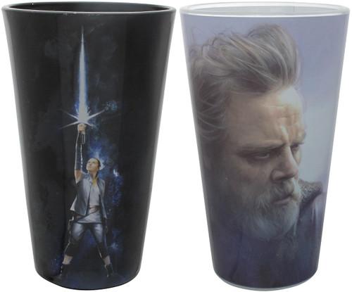 Star Wars Force Awakens Rey Luke Pint Glass Set