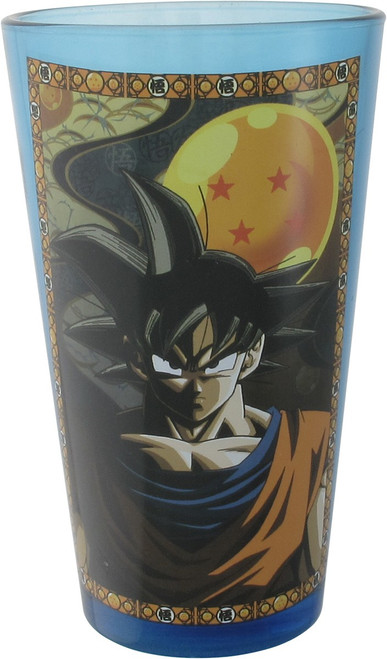 Dragon Ball Z Goku Four Star Blue Pint Glass