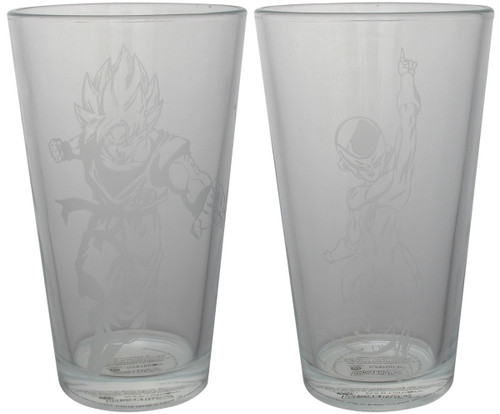 Dragon Ball Z Goku & Frieza Etched Pint Glass Set