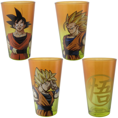 Dragon Ball Z Goku Versions 4 Pint Glass Set
