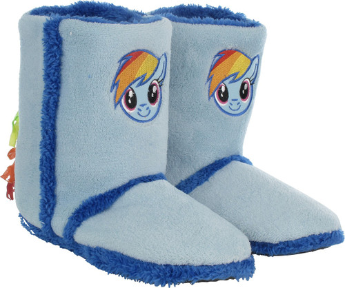My Little Pony Rainbow Dash Womens Boot Slippers