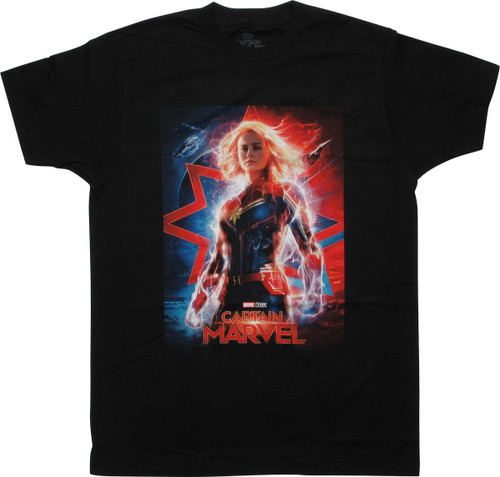 Captain Marvel 2019 Movie Poster T-Shirt