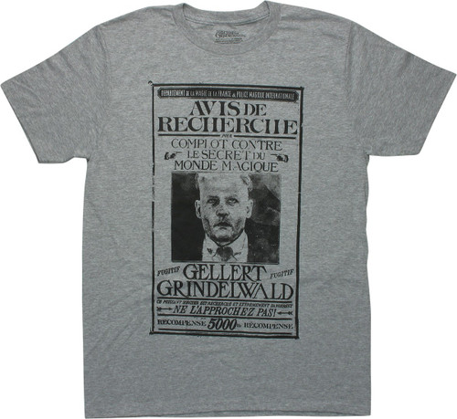 Fantastic Beasts Grindelwald Wanted Poster T-Shirt