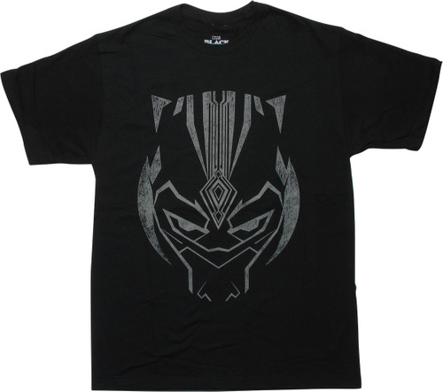 Black Panther T'Challa Mask Distressed T-Shirt