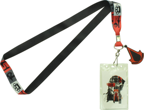 Assassins Creed Silhouette Weapon Icons Lanyard