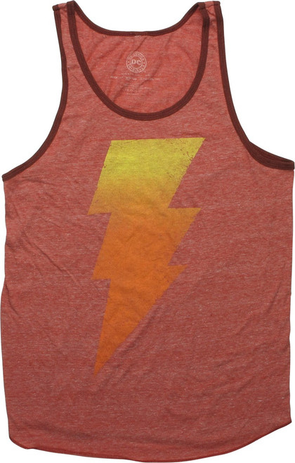 Shazam Black Adam Gradient Heathered Red Tank Top