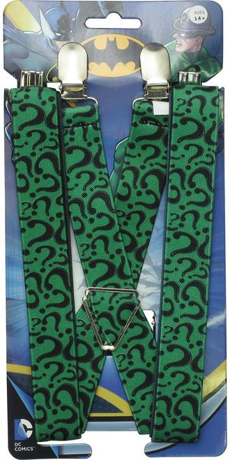 Batman Riddler Question Marks Allover Suspenders