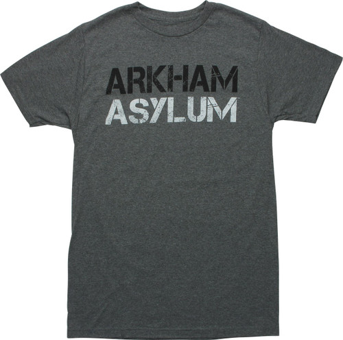 Batman Arkham Asylum Heathered Black T-Shirt