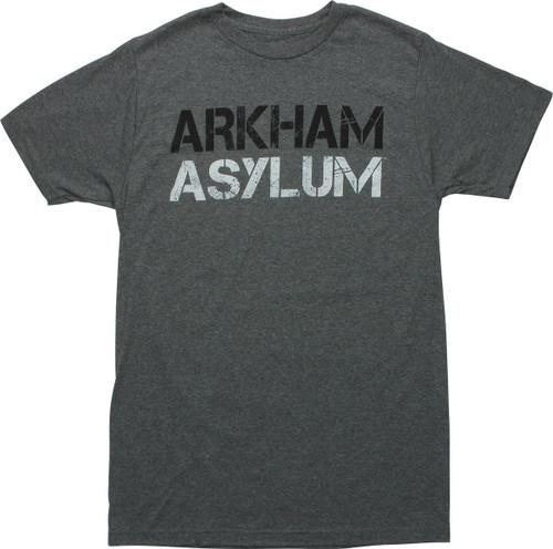 Batman Arkham Asylum Heathered Black T-Shirt
