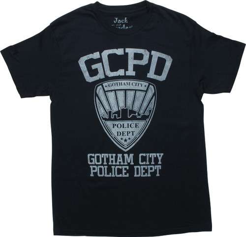 Batman Gotham City Police Department Navy T-Shirt