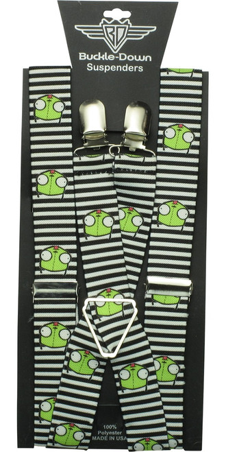 Invader Zim Gir Striped HT Suspenders