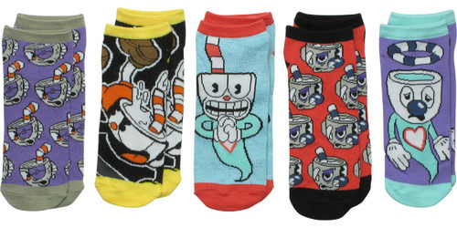 Cuphead Ghosts 5 Pair Ankle Socks Set