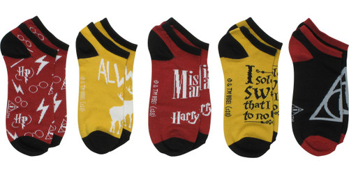 Harry Potter Mischief Icons 5 Pair Ankle Socks Set