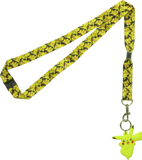 Pokemon Pikachu Allover Poses Lanyard