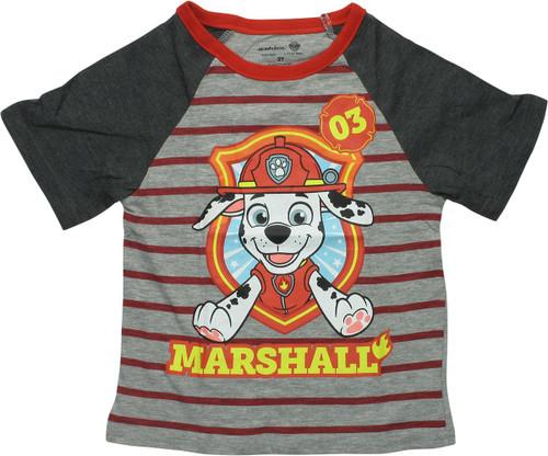 Paw Patrol 03 Marshall Raglan Toddler T-Shirt