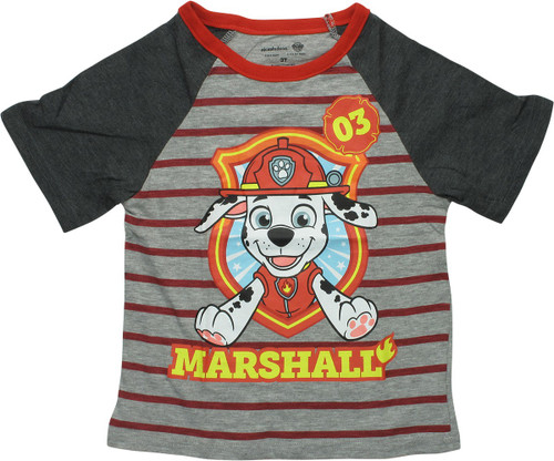 Paw Patrol 03 Marshall Raglan Toddler T-Shirt