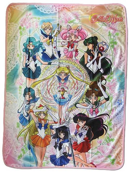 Sailor Moon Sailor Team Sublimated Throw Blanket