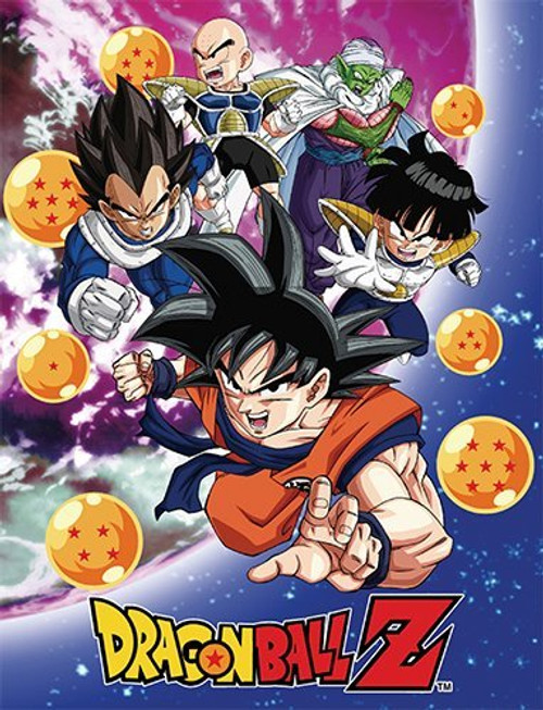 Dragon Ball Z Heroes Sublimated Throw Blanket