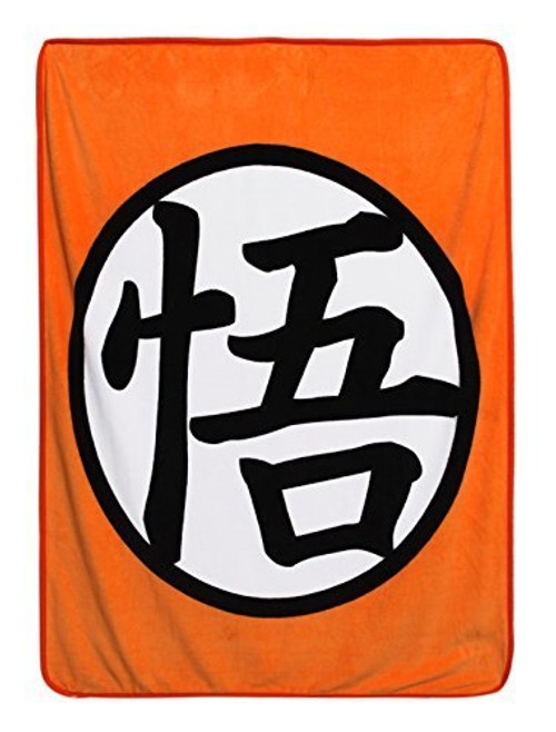 Dragon Ball Z Goku Kanji Symbol Throw Blanket