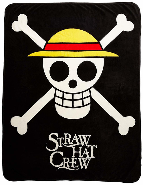 One Piece Straw Hat Crew Logo Throw Blanket