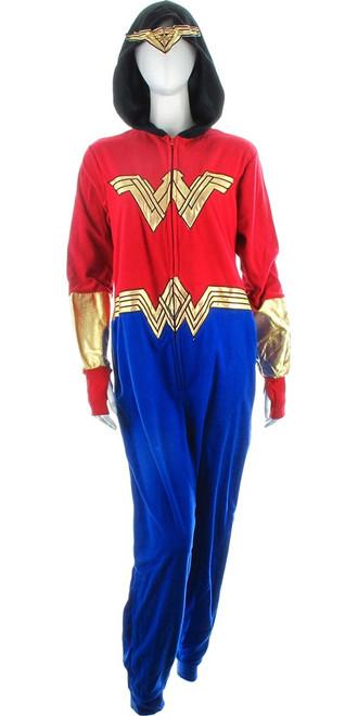 Wonder Woman Justice League Hooded Union Suit