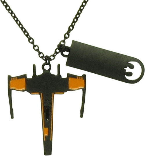 Star Wars Rebel Black Squadron X-Wing Necklace