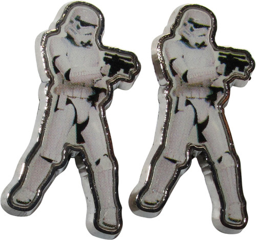 Star Wars Stormtrooper Firing Stance Stud Earrings