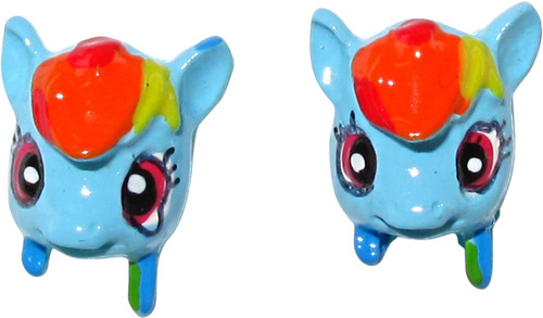 My Little Pony Rainbow Dash 3D Head Stud Earrings