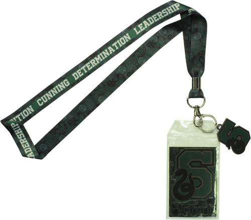 Harry Potter Slytherin Verbiage Lanyard
