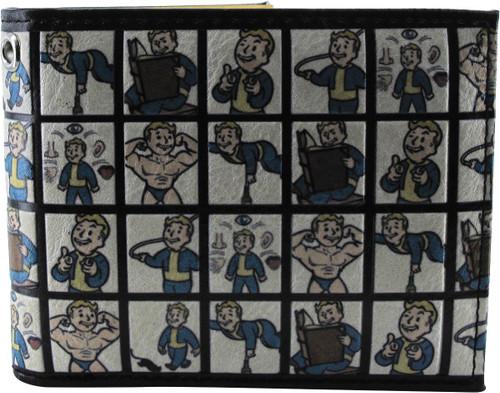 Fallout Vault Boy Squares Bi-Fold Wallet