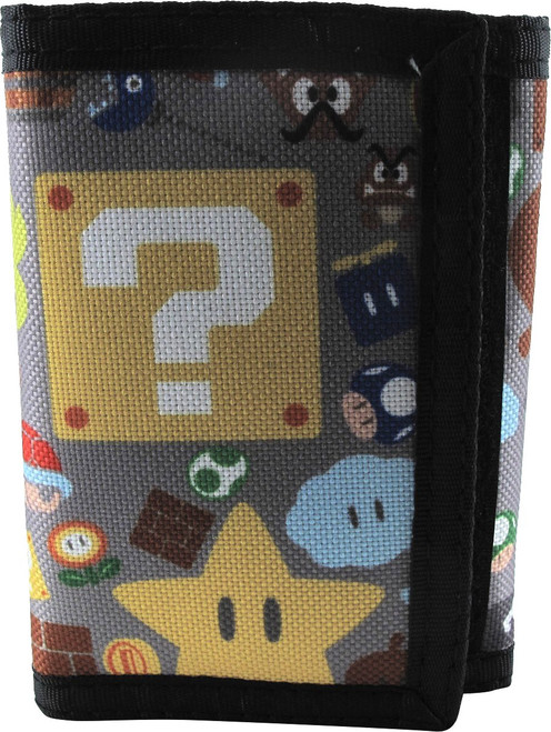 Super Mario Items and Enemies Tri-Fold Wallet
