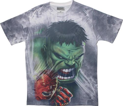 Incredible Hulk Transformation Sublimated T-Shirt