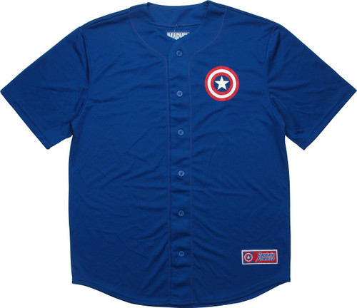 Captain America 41 Captain Royal Baseball Jersey
