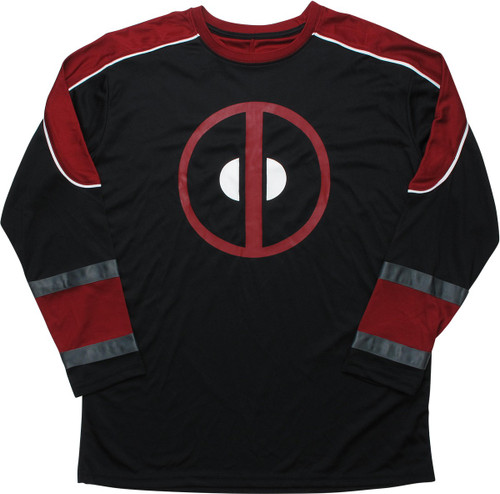 Deadpool Logo 91 Black Hockey Jersey